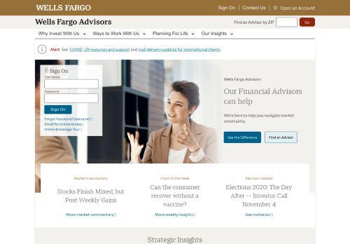 Wells Fargo Advisors: Investing Services, Financial Advisors