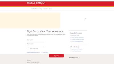 Wells Fargo Sign On to View Your Accounts