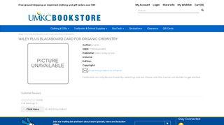 WILEY PLUS BLACKBOARD CARD FOR ... - UMKC Bookstore