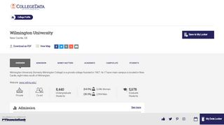 Wilmington University Overview - CollegeData College Profile