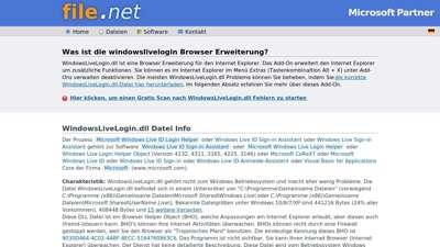 WindowsLiveLogin.dll Windows Prozess - Was ist das?