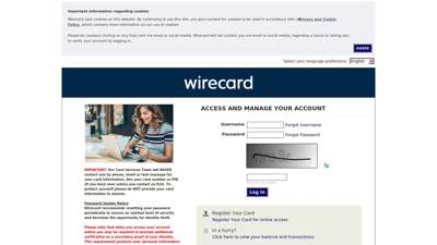 Wirecard - ACCESS AND MANAGE YOUR ACCOUNT