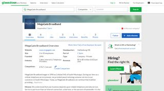 Working at MegaGate Broadband | Glassdoor