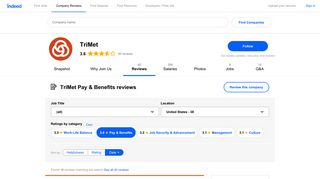 Working at TriMet: Employee Reviews about Pay & Benefits ...