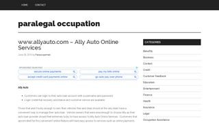 www.allyauto.com – Ally Auto Online Services – paralegal ...