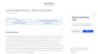 www.BeingMyBest.net – Bob Evans My Best - Terri Wise