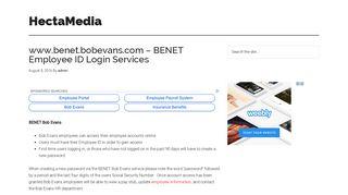 www.benet.bobevans.com - BENET Employee ID Login ...