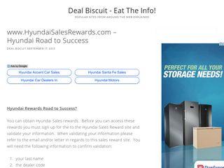 www.HyundaiSalesRewards.com – Hyundai Road to Success
