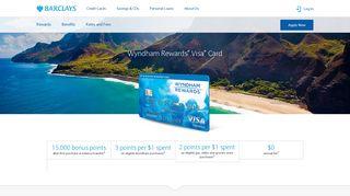 Wyndham Rewards® Visa® Card   Hotel Rewards   Barclays US