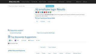 Xjt employee login Results For Websites Listing - SiteLinks.Info