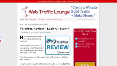 YoloPros Review – Legit Or Scam?  Web Traffic Lounge