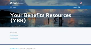 Your Benefits Resources (YBR)  PayPal Benefits