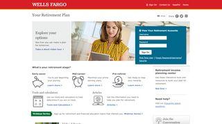 Your retirement plan website address has changed - Wells Fargo