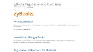 zyBooks Registration and Purchasing - EECS 183