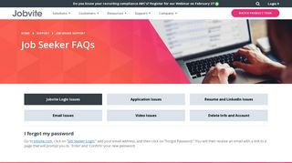 Job Seeker FAQs and Support - Jobvite