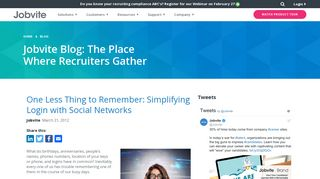 One Less Thing to Remember: Simplifying Login with ... - Jobvite