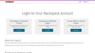 Rackspace Customer Login