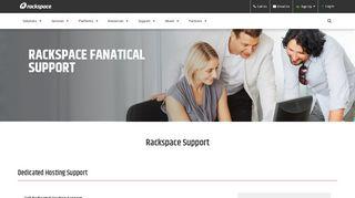 Rackspace Hosting Help & Support Links