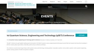 1st Quantum Science, Engineering and Technology (qSET ...