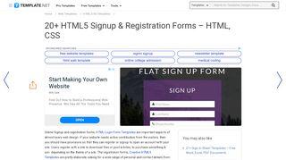 20+ HTML5 Signup & Registration Forms - HTML, …