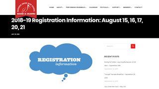 2018-19 Registration Information: August 15, 16, 17, 20, 21 - RUHS ...