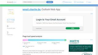 Access email.charite.de. Outlook Web App