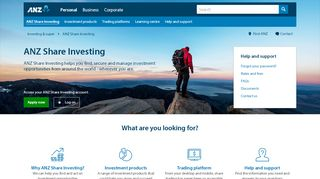 ANZ Share Investing | Buy Shares & Trade Online | ANZ