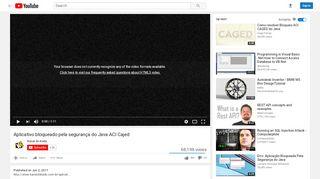 Aplicativo bloqueado pela segurança do Java ACI Cajed ...