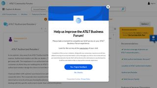 AT&T 'Authorized Retailers' - AT&T Community