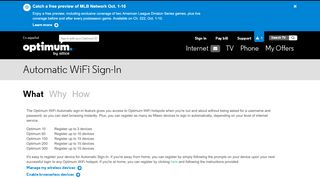 Automatically Sign-In to WiFi | Optimum