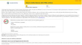 Automobile Club d'Italia - Visure PRA - ACI