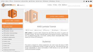 AWS Lambda Tutorial - tutorialspoint.com