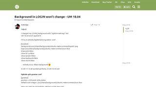 Background in LOGIN won't change - UM 18.04 - Ubuntu MATE ...
