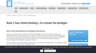 Bank 1 Saar Online Banking ⇒ Alle wichtigen Infos
