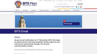 BITS Email - bits-pilani.ac.in