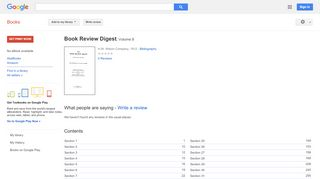 Book Review Digest