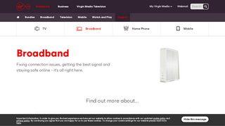 Broadband | Customer Support | Virgin Media Ireland
