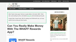 Can You Really Make Money With The WHAFF Rewards App?