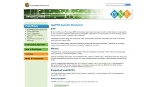 CAPPS System Overview - ProjectONE Our New Enterprise
