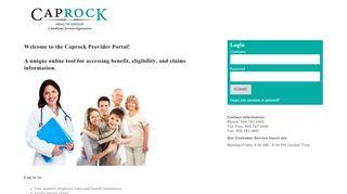 Caprock Provider Portal - Healthx