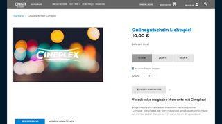 Cineplex Onlinegutschein Lichtspiel- Dein Kinogutschein