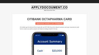 citibank octapharma card   Applydocoument.co