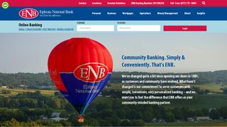 Community Banking. Simply & Conveniently. That's ENB.