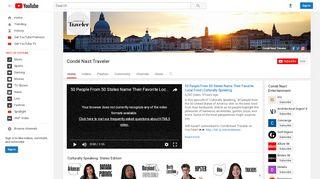 Condé Nast Traveler - YouTube