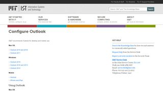 Configure Outlook | Information Systems & Technology