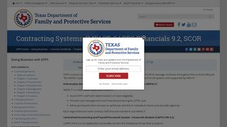 Contracting Systems: IMPACT, CAPPS Financials 9.2, SCOR - DFPS