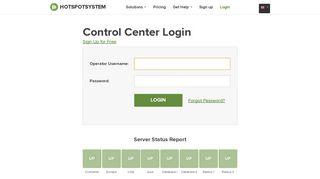 Control Center Login - HotspotSystem