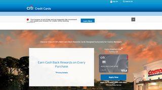 Costco Anywhere Visa Card by Citi — Citi.com