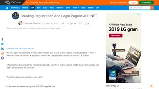 Creating Registration And Login Page In ASP.NET