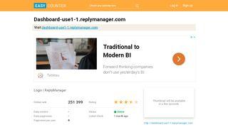 Dashboard-use1-1.replymanager.com: Login | ReplyManager